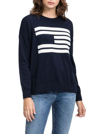 9392ffdee Tommy HilfigerEssential Flag Crew Neck Sweater. Tommy Hilfiger Essential  Flag Crew Neck Sweater