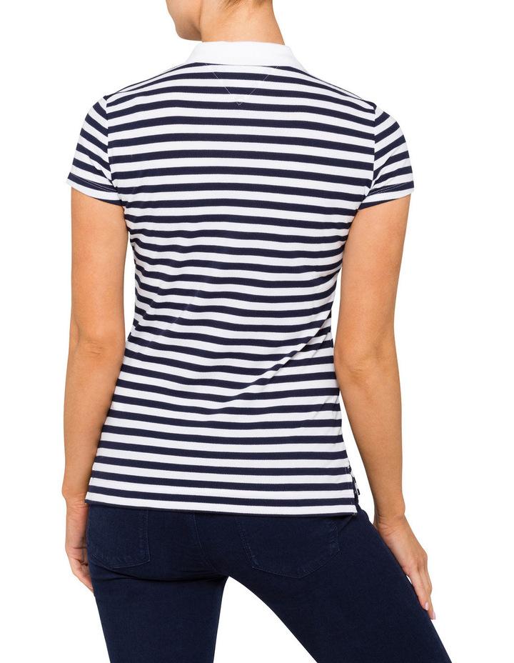 New Chiara Cotton Pique Stripe Polo image 2