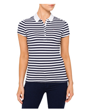 Tommy Hilfiger - New Chiara Cotton Pique Stripe Polo