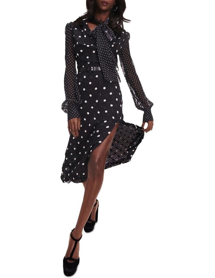 Zendaya Polka Dot Tie Neck Dress image 1