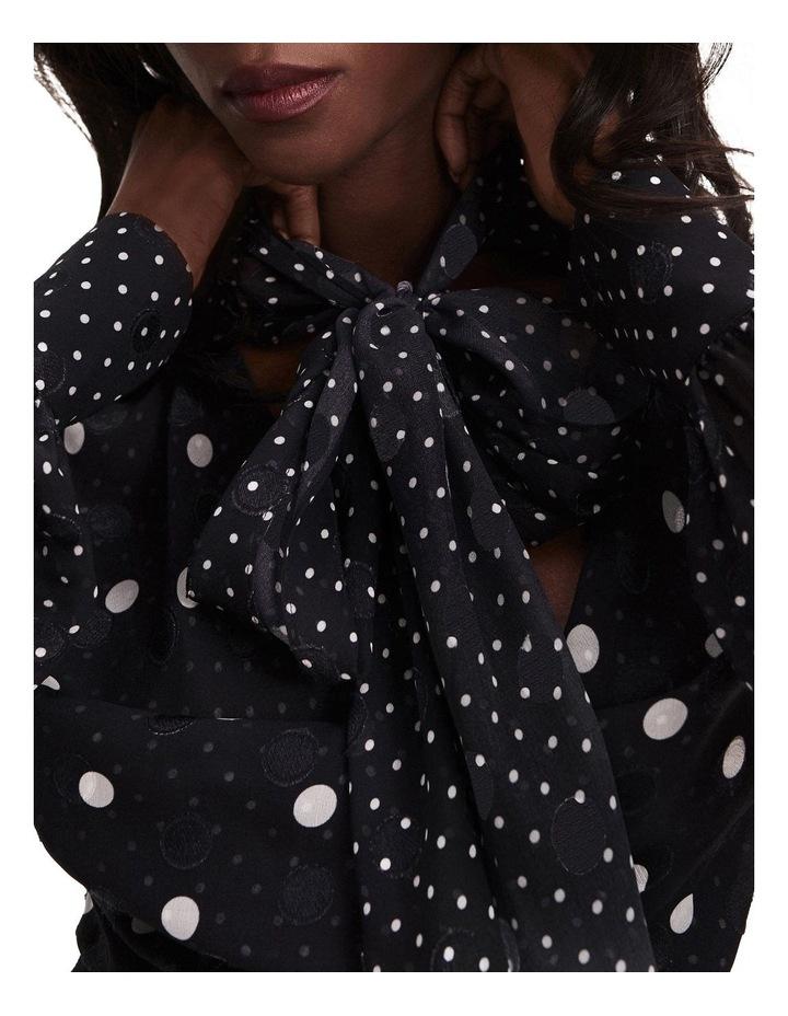 Zendaya Polka Dot Tie Neck Dress image 3