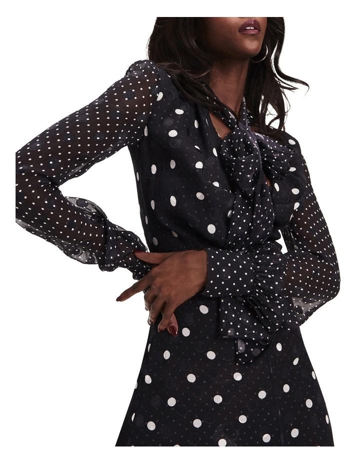 Zendaya Polka Dot Tie Neck Dress image 6