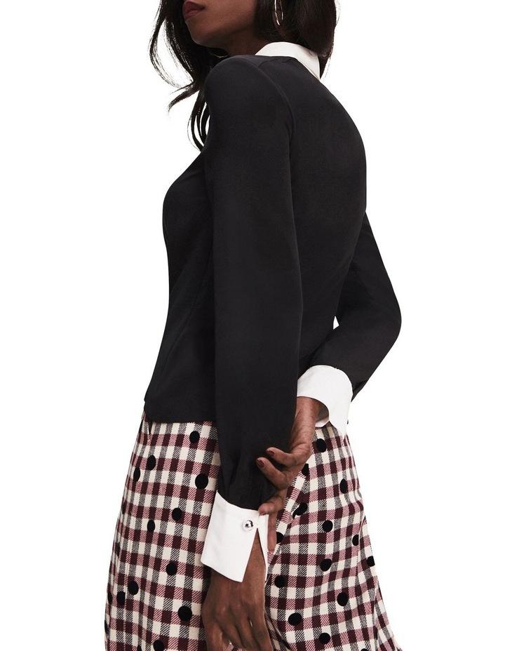Zendaya Contrast Collar Blouse image 2