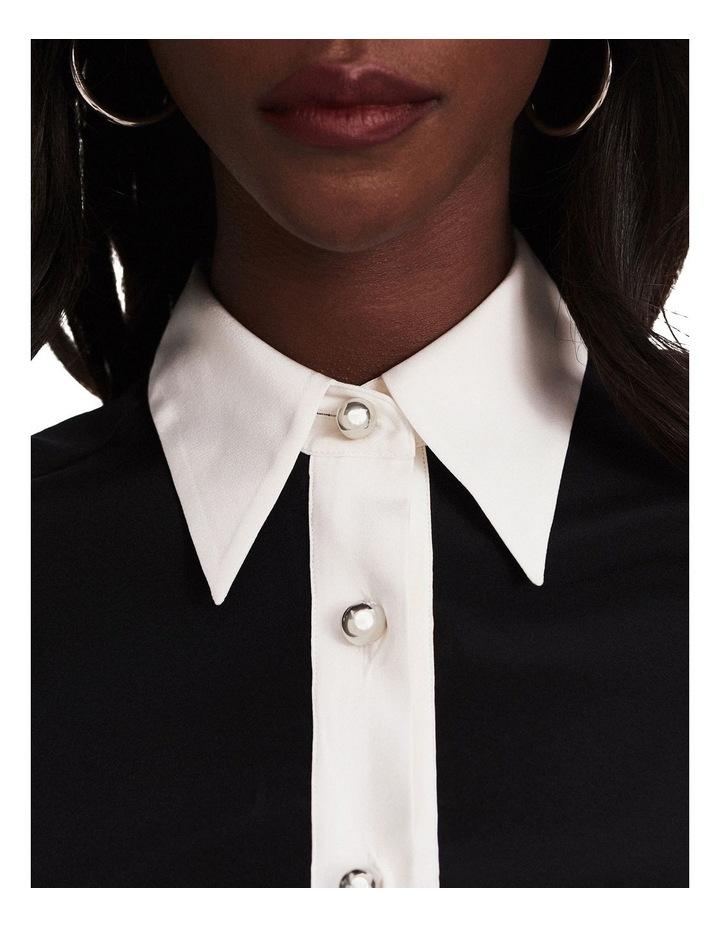 Zendaya Contrast Collar Blouse image 3