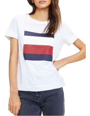 625f8d2bf Tommy HilfigerCathy Crew Neck Short Sleeve T-Shirt. Tommy Hilfiger Cathy  Crew Neck Short Sleeve T-Shirt