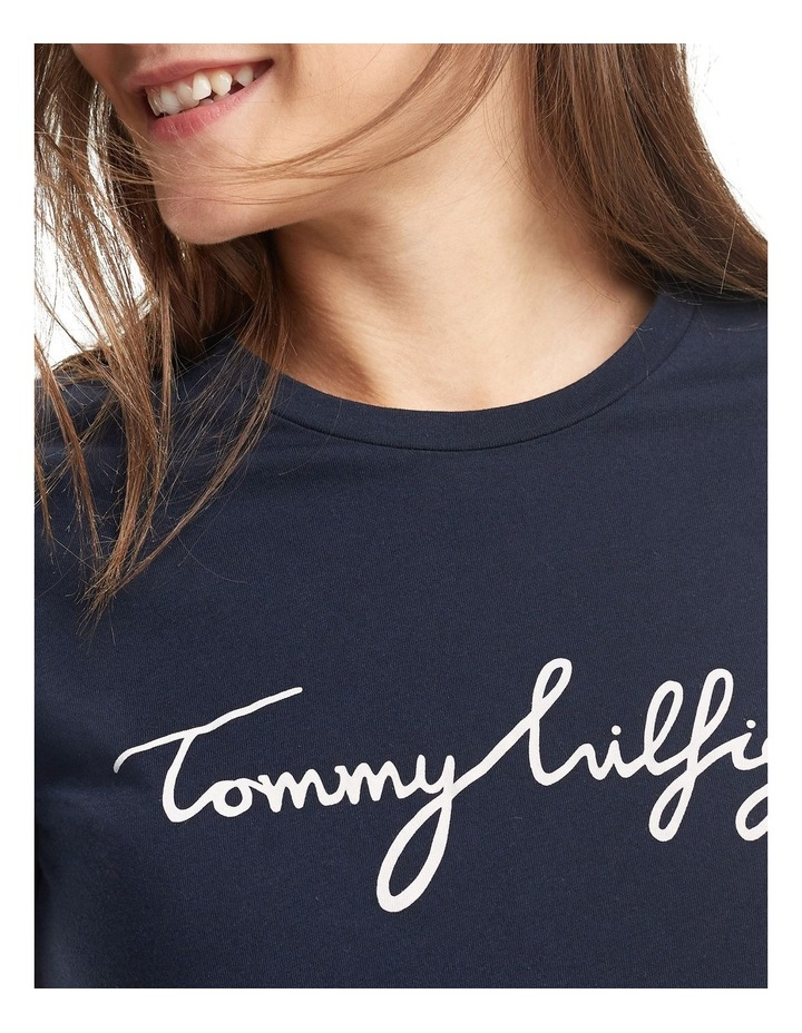 Tommy Hilfiger Heritage Crew Neck G Womens T-shirt Midnight All Sizes