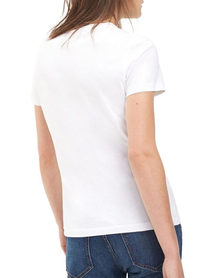 Heritage Crew Neck T-Shirt  Classic White image 2