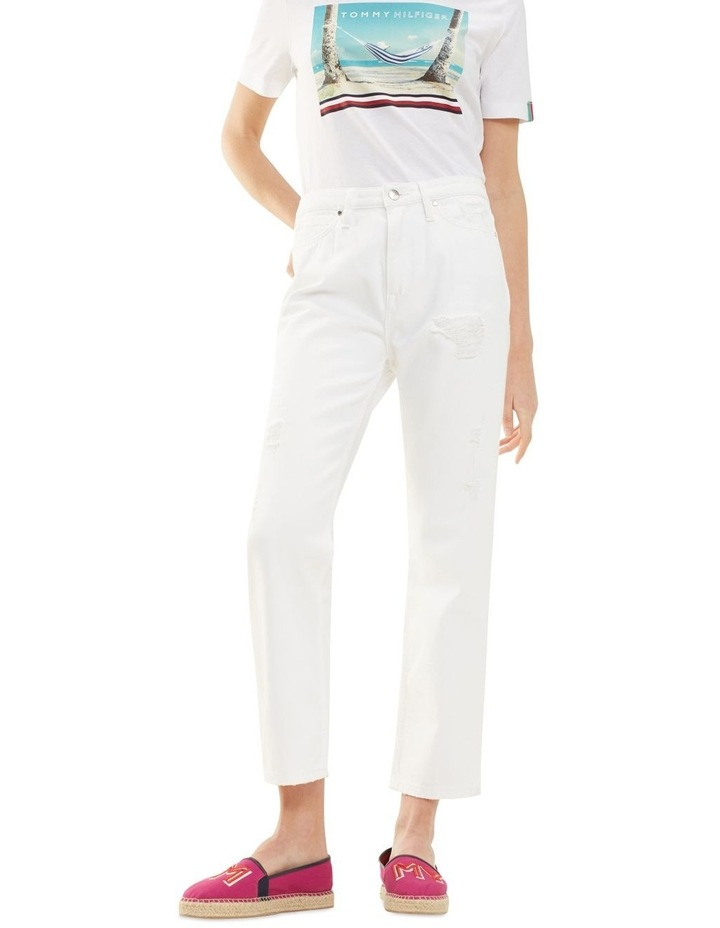 Classic Straight High Waisted Cropped Jean image 1
