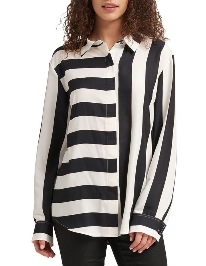 Foundation - Long Sleeve Collar Btn Thru Top With Step Hem image 1