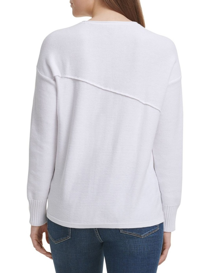 Long Sleeve Wide Neck Pullover With Combo Fabric image 3
