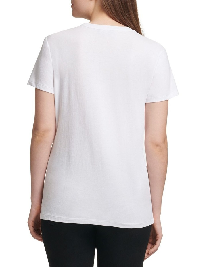 Short Sleeve Crew Neck Sequin Logo Tee image 3