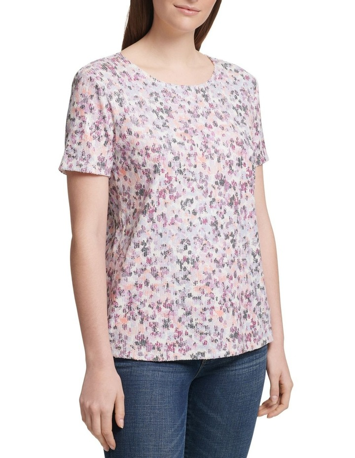 Foundation - Printed Short Sleeve Crew Neck Sequin Top image 1