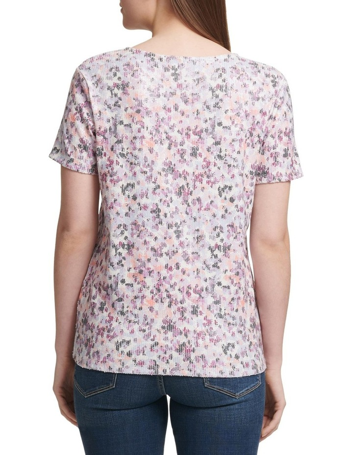 Foundation - Printed Short Sleeve Crew Neck Sequin Top image 2