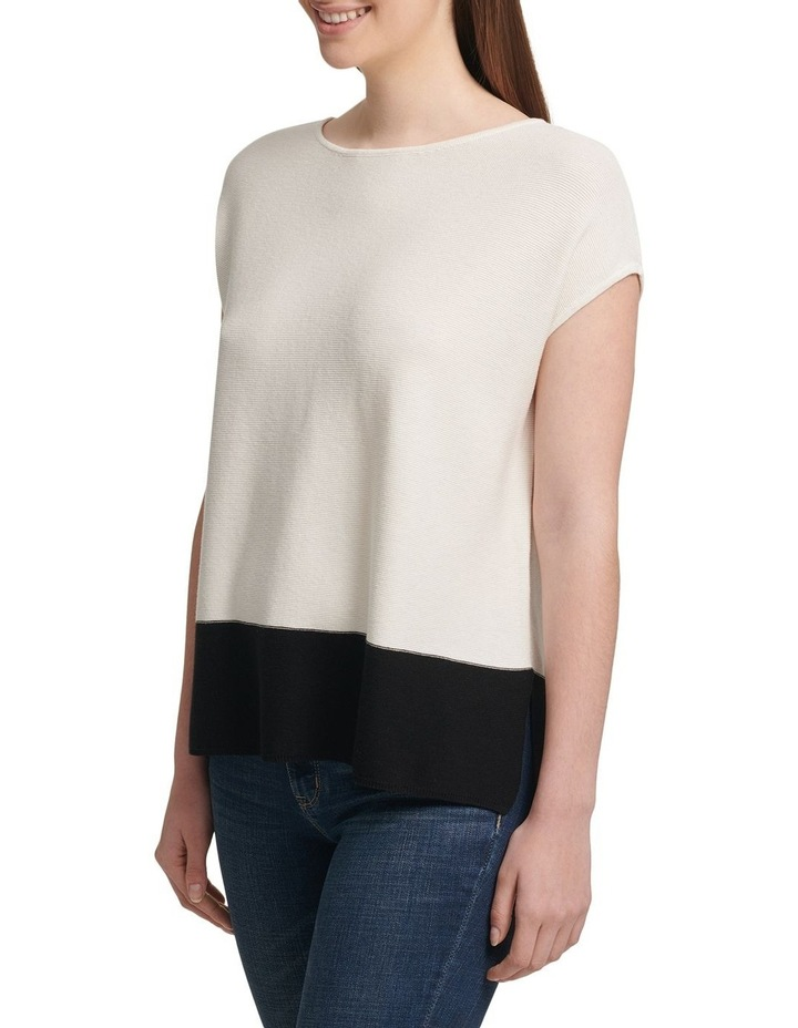 Colorblock Cap Sleeve Pullover image 1