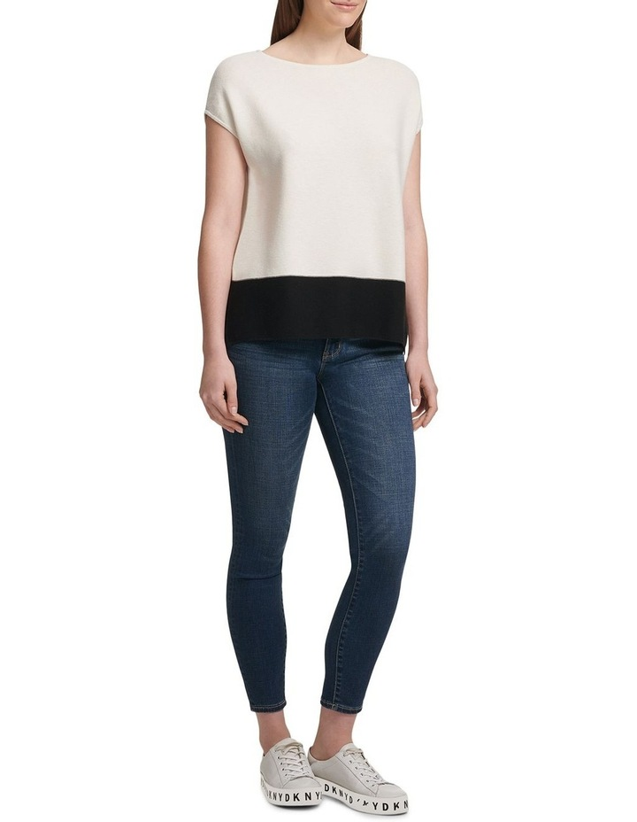 Colorblock Cap Sleeve Pullover image 2