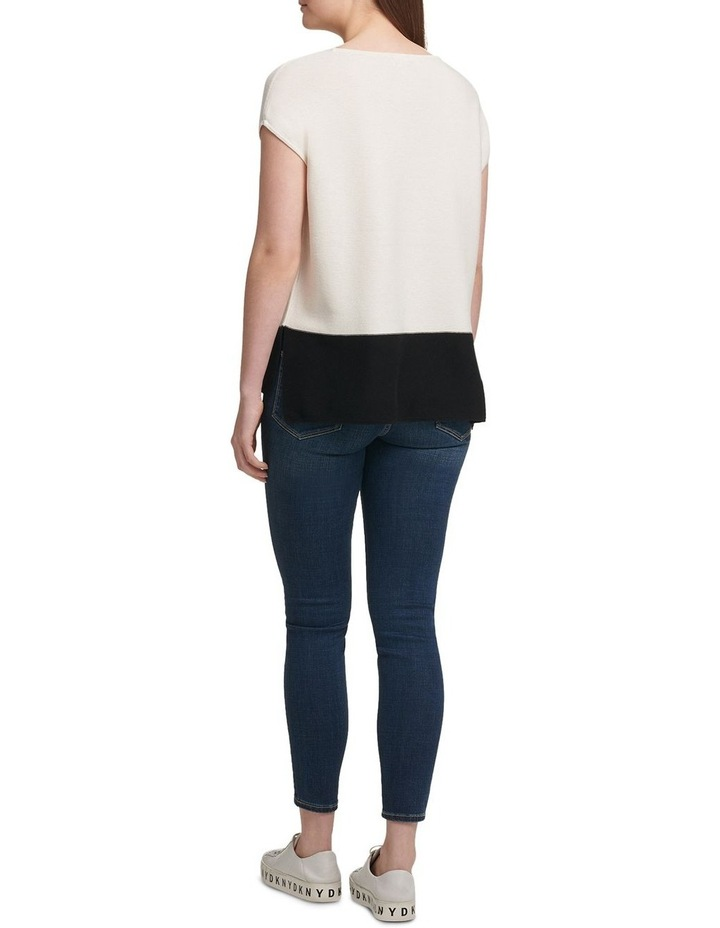 Colorblock Cap Sleeve Pullover image 3