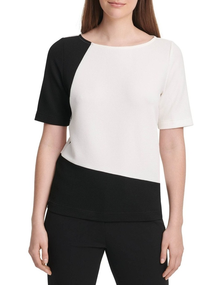 Short Sleeve Colorblock Top image 1