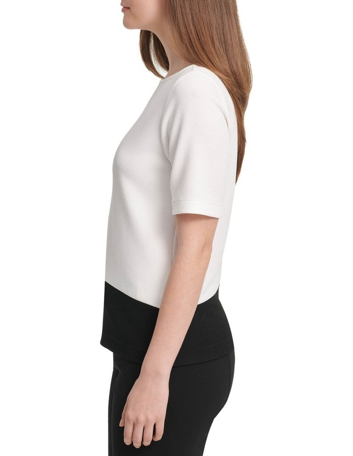 Short Sleeve Colorblock Top image 2