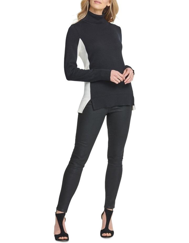 T-Neck With Split Hem Sweater image 1