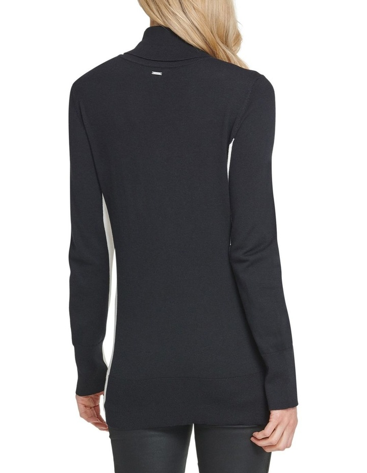 T-Neck With Split Hem Sweater image 3