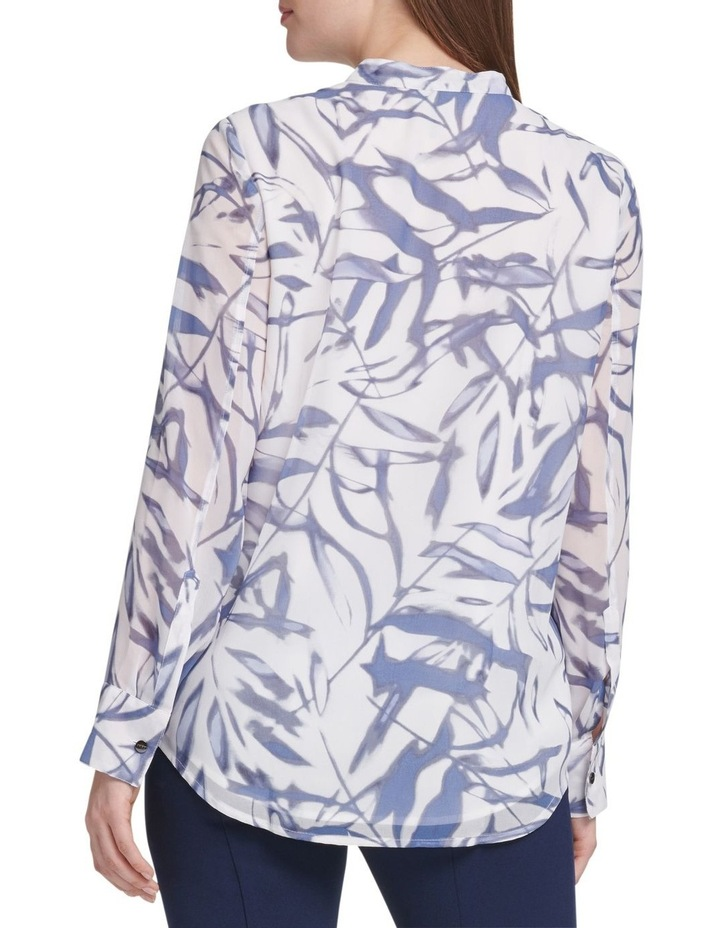 Printed Long Sleeve Button Thru Top With Half Placket image 3