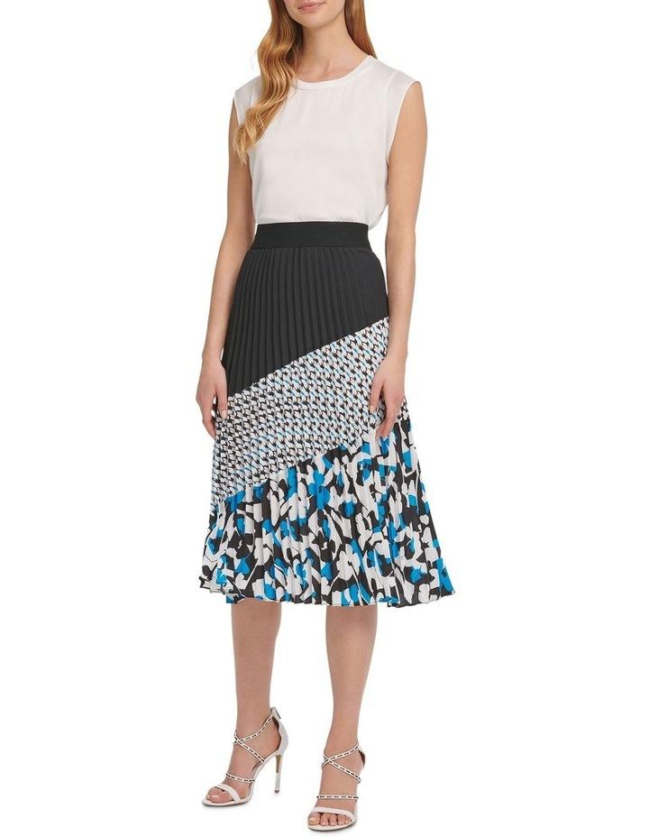 Pleated Colorblock Skirt image 1