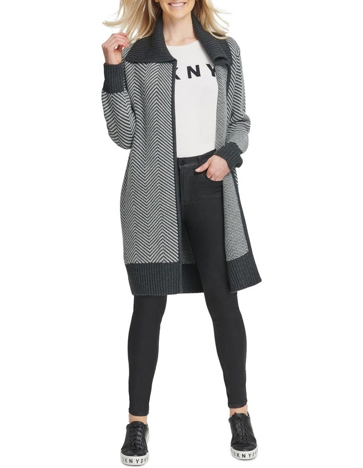 Long Sleeve Open Front Cardigan image 1