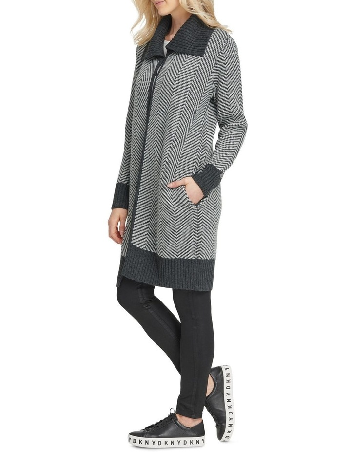 Long Sleeve Open Front Cardigan image 2