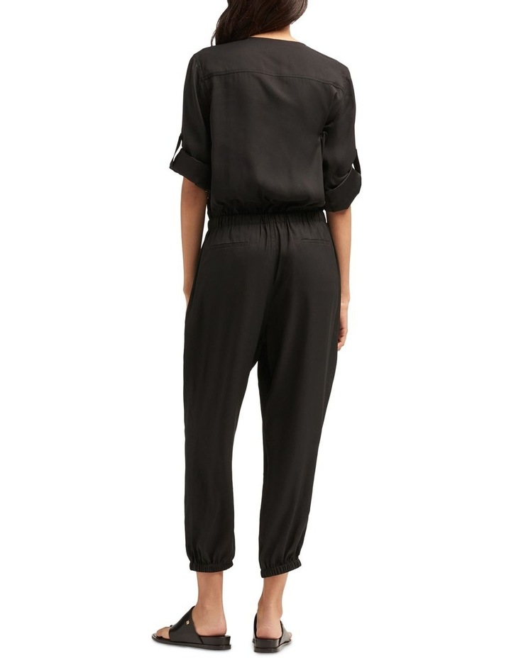 Roll Tab Sleeve Jumpsuit With Front Zip & Tie Front image 4