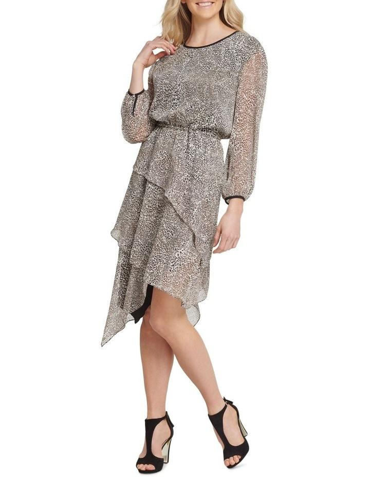 Long Sleeve Dress with Layered Skirt image 1