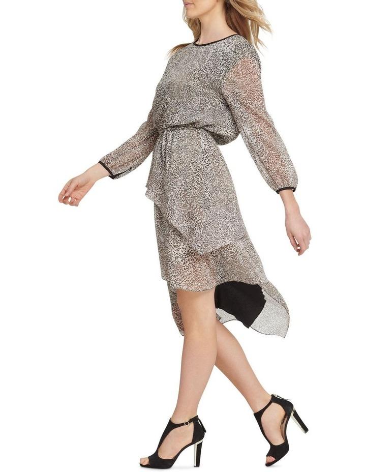 Long Sleeve Dress with Layered Skirt image 2