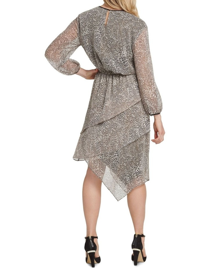 Long Sleeve Dress with Layered Skirt image 3