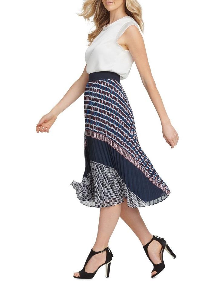 Pull On Pleated Midi Skirt image 2