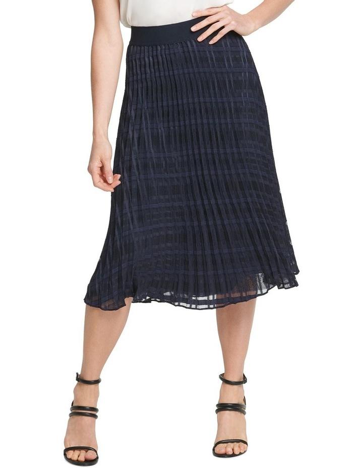 Pull On Pleated Midi Skirt image 1