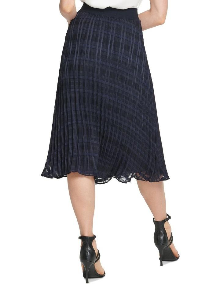Pull On Pleated Midi Skirt image 3