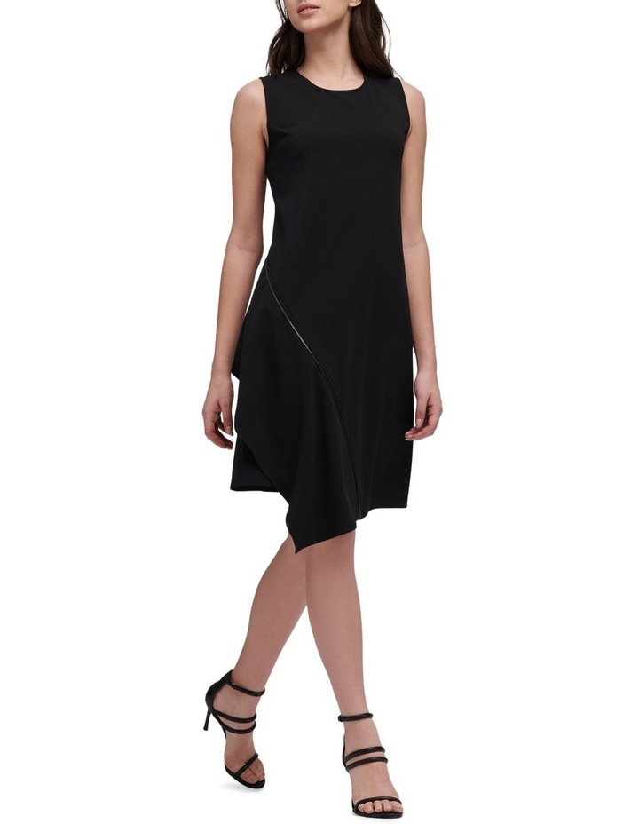 Sleeveless Crew Neck Dress With Zipper Embellishment image 1