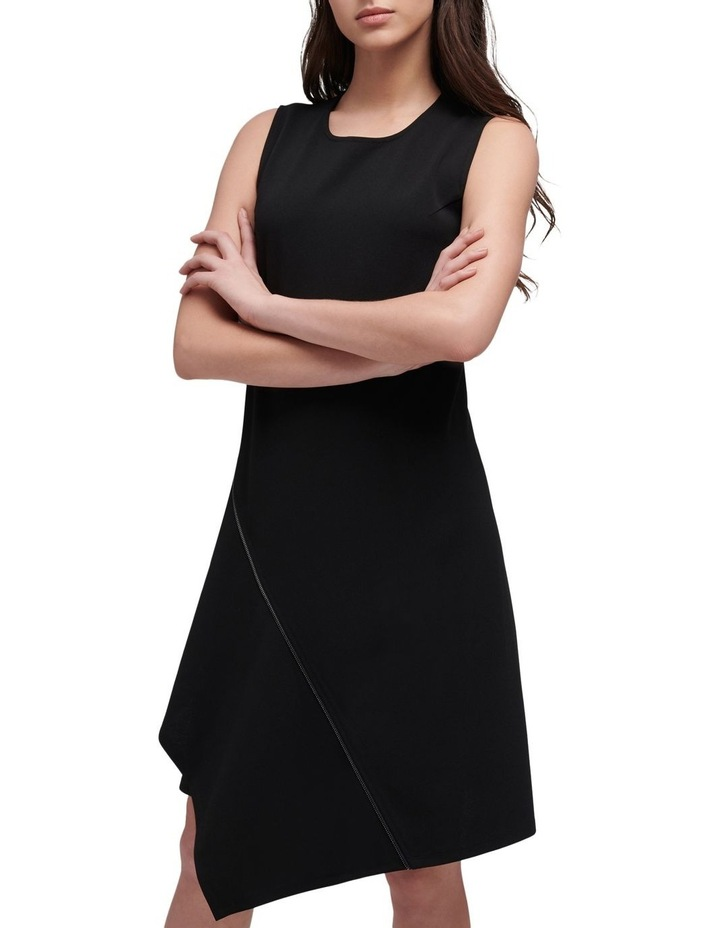 Sleeveless Crew Neck Dress With Zipper Embellishment image 2