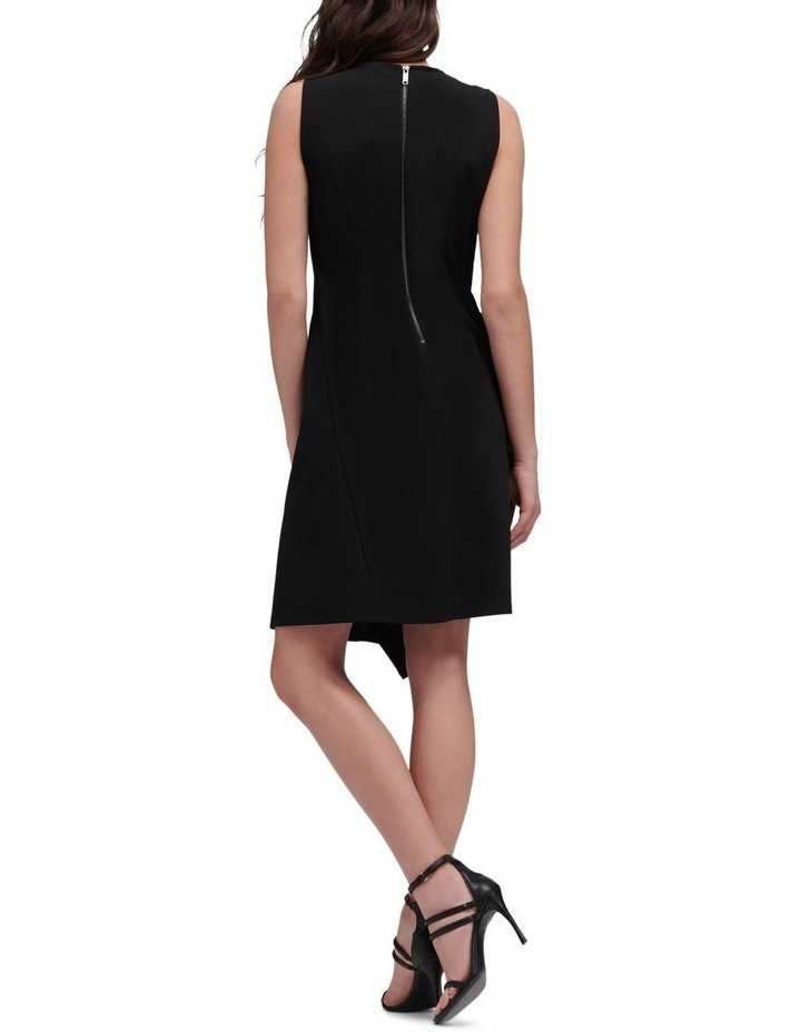 Sleeveless Crew Neck Dress With Zipper Embellishment image 3