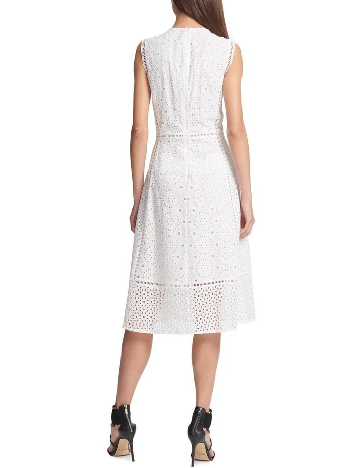 Sleeveless Crew Neck Dress With Eyelet Embellishment image 2