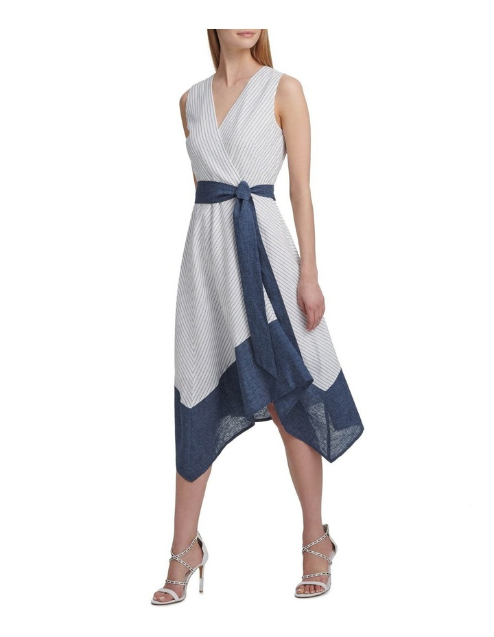 Sleeveless V-Neck Dress With Tie Belt image 1