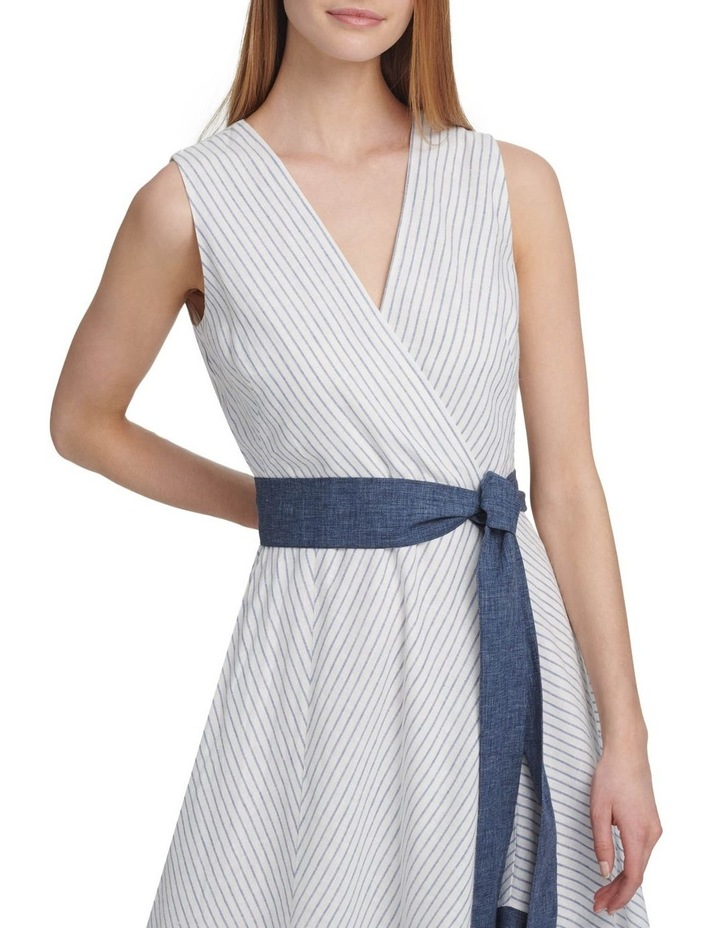 Sleeveless V-Neck Dress With Tie Belt image 2