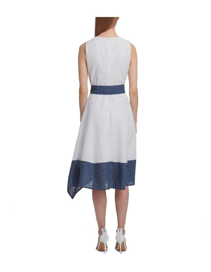 Sleeveless V-Neck Dress With Tie Belt image 3