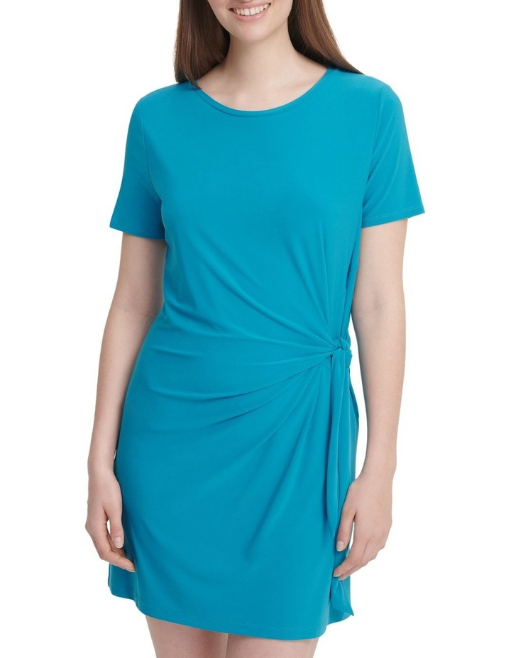 Short Sleeve Dress With Knot Detail image 1
