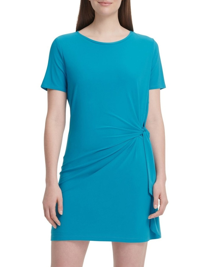 Short Sleeve Dress With Knot Detail image 2