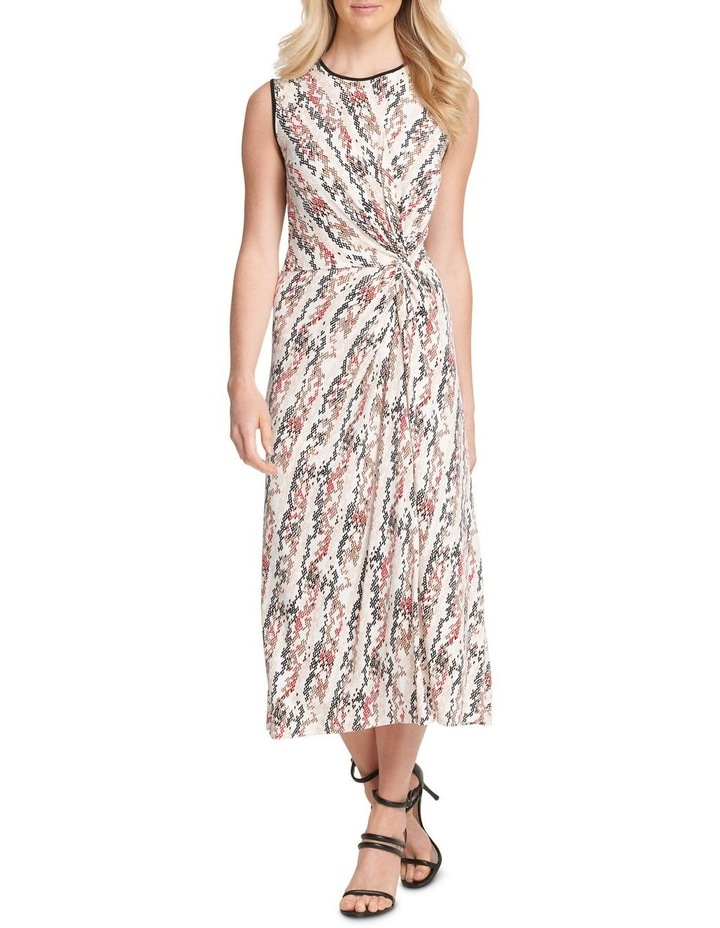 Sleevels Midi Dress With Knot Detail image 1