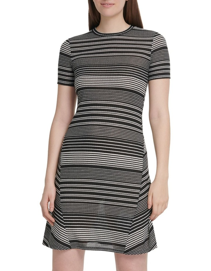 Short Sleeve Rib Dress image 1