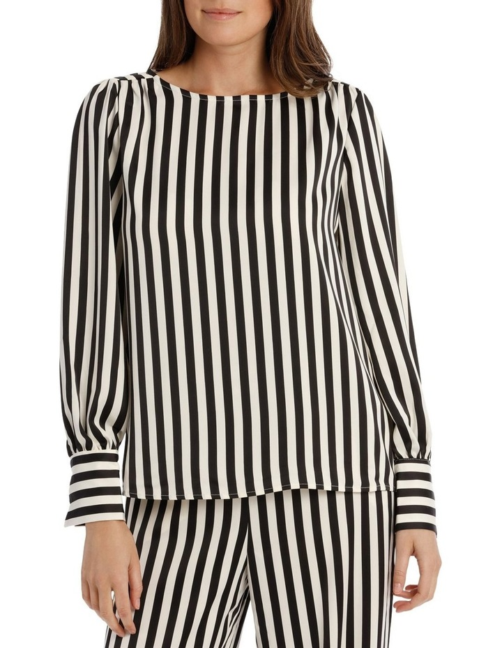 EDNA LONG SLEEVE STRIPE BLOUSE image 1