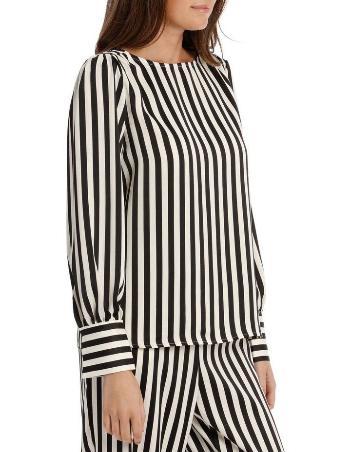 EDNA LONG SLEEVE STRIPE BLOUSE image 2