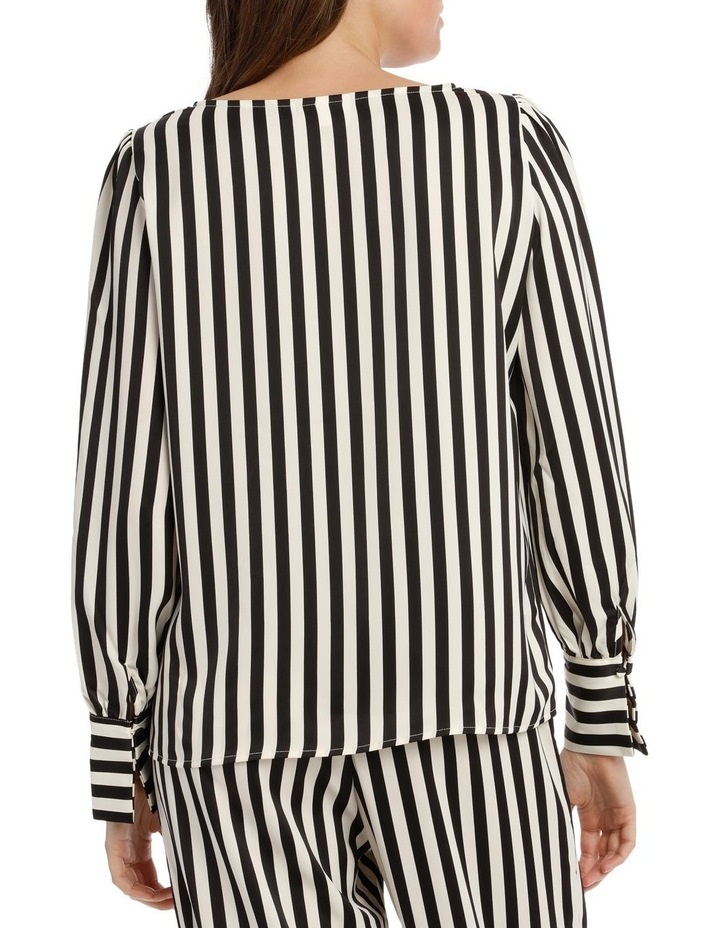 EDNA LONG SLEEVE STRIPE BLOUSE image 3