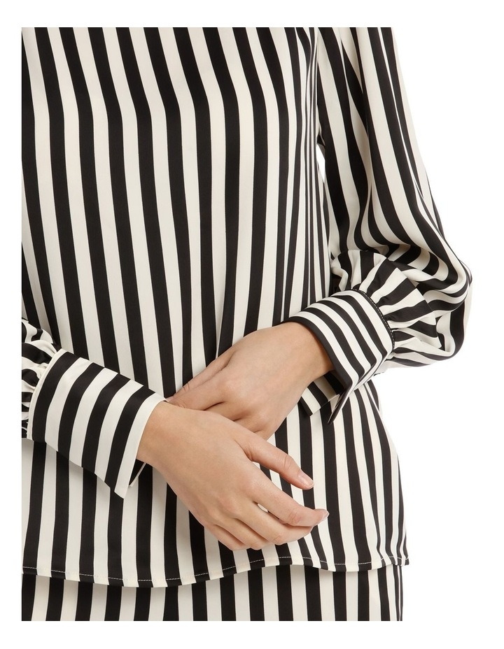 EDNA LONG SLEEVE STRIPE BLOUSE image 4